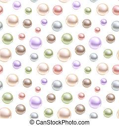 sphérique, différent, perles, seamless, arrière-plan., vecteur, colors.
