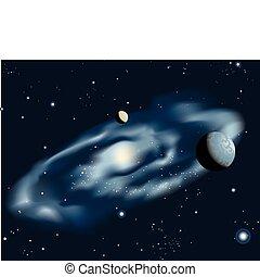 spirale bleue, galaxie