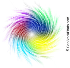 spirale, former, multicolore, courbes