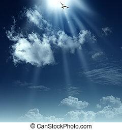 spirituel, heaven., résumé, arrière-plans, conception, manière, ton