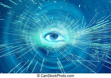 spirituel, oeil