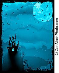 spooky, halloween, eps, horror., 8, composition