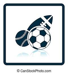 sport, balles, icône