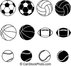 sport, collection, balles
