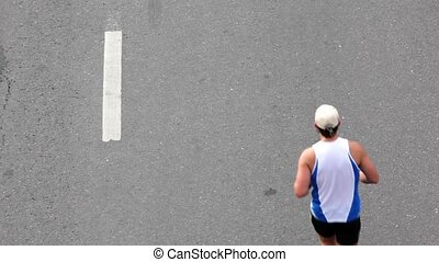sport, course, usure, asphalte, homme
