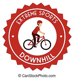 sport, emblème, descendant, extrême