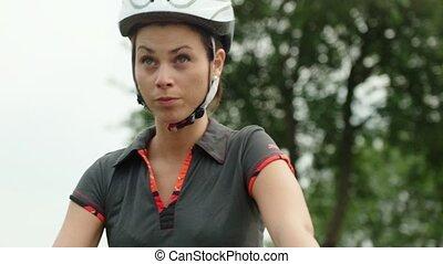 sport, girl, vélo, gens