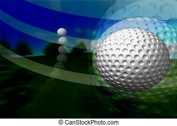 sport, golfball, succès