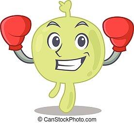sportif, ganglion lymphatique, conception, boxe, athlète, mascotte