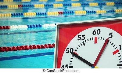 sports, natation, chronomètre, p
