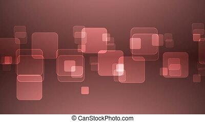 squares., chevaucher, rouges