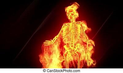 squelette, ardent