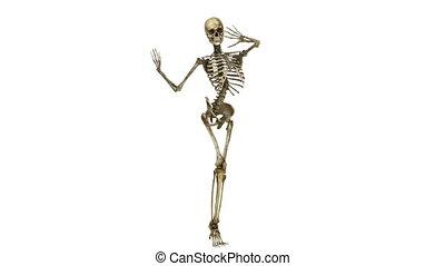 squelette, danse