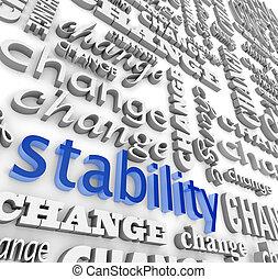 stabilité, conclusion, midst, changement