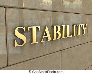 stabilité, mot