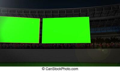 stade, chroma, écrans, clã©