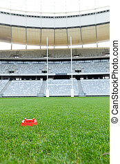 stade, rugby, stand, balle