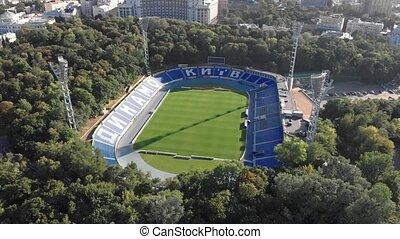 stade, vue, kyiv, dynamo, aérien, lobanovskyi