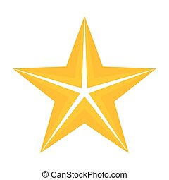 star., cinq, or, point