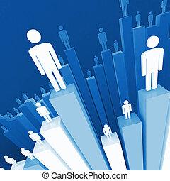 stat, business, fond, équipe
