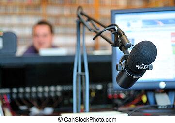 station, microphone radio