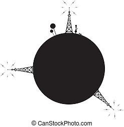 station, radio-transmitting