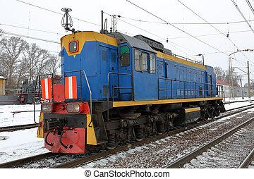 station, retro, locomotive