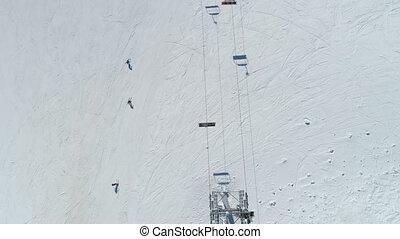 station sports hiver, vue, aérien