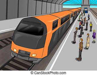 station, train