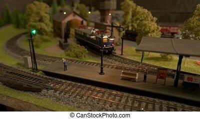 station., train, miniature