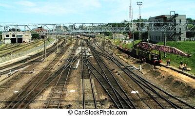 station, train, timelapse