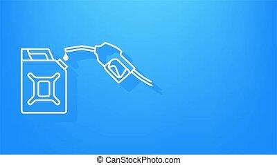 stations, banner., diesel, essence, toile, rouges, canister., fueling, ou, petroleum., remplissage, réseau