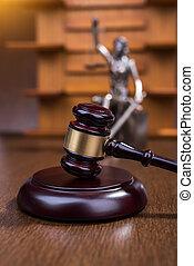 statue, droit & loi, justice, gavel bois, concept