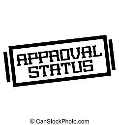 statut, approbation, blanc, timbre