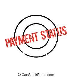 statut, caoutchouc, paiement, timbre