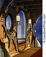steampunk, scène