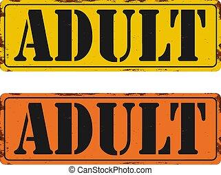 sticker., button., contenu, vecteur, limite, stamp., âge, seulement adultes