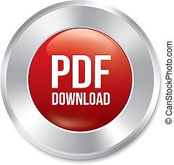 sticker., button., vecteur, téléchargement, pdf, rond, rouges