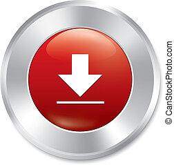 sticker., button., vecteur, téléchargement, rond, rouges
