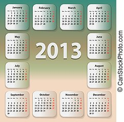 stickies, calendrier, 2013