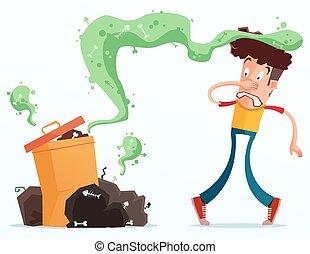 stinky, déchets