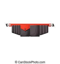 stock., ceinture, icône, outillage, logo., conception, vecteur, toolbag, graphique