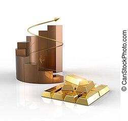 stockage, chart., économie, marché, produit, market., barres, investissement, finance, or