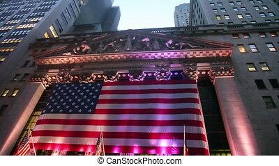 stockage, inclinaison, échange, york, nouveau