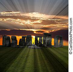 stonehenge, célèbre, angleterre