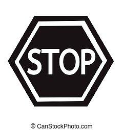stop, conception, illustration, icône