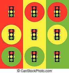 stoplight, illustration