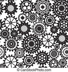 stratégie, commercialisation, icones affaires, modèle, résumé, service, communiquer, seamless, mécanisme, recherche, vecteur, connecté, illustration, fond, numérique, seo, concepts., concept., analytics, engrenages