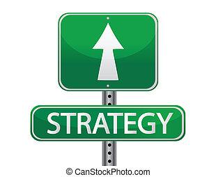 stratégie, concept, signe rue