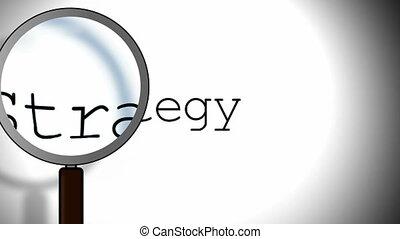 stratégie, verre, magnifier